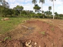 swale dug by machinary and bunyip level at jamaca de dios dominican republic