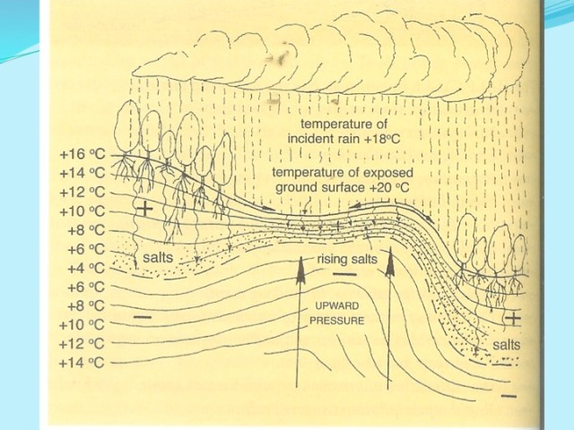 half hydrological cycle on temperature