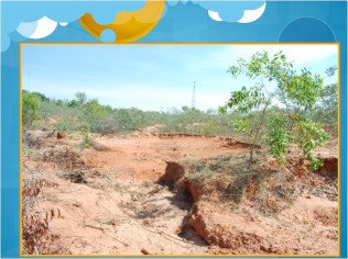 Degraded local landsape in Auroville surroundings, pebble mining, deforestation taking its toll