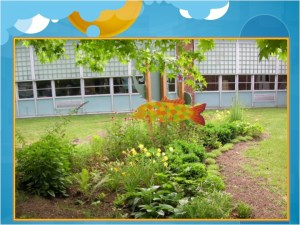 Rain Garden at a school in Cincinnati- design and implementation from a local non-profit, the Mill Creek Watershed Council