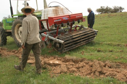 Keyline plough with soil biofertilizer lines and tank