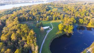 Treasure Lake Permaculture drone image, credit Lucas Thompson