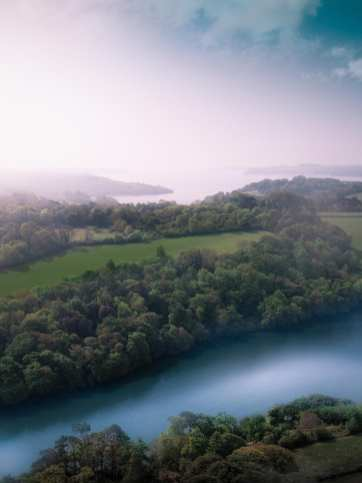 Aerial View of Estuary