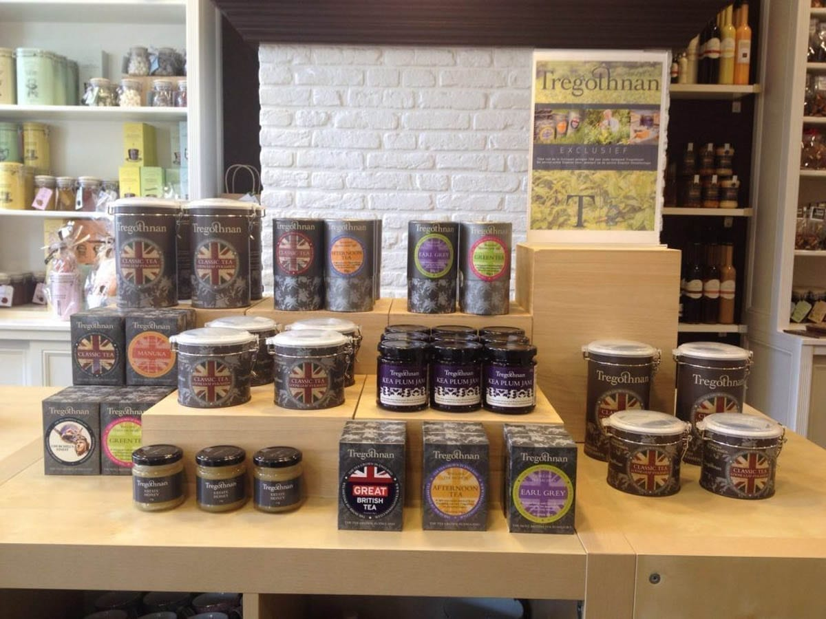 New stockist in The Netherlands has a wonderful Tregothnan Display