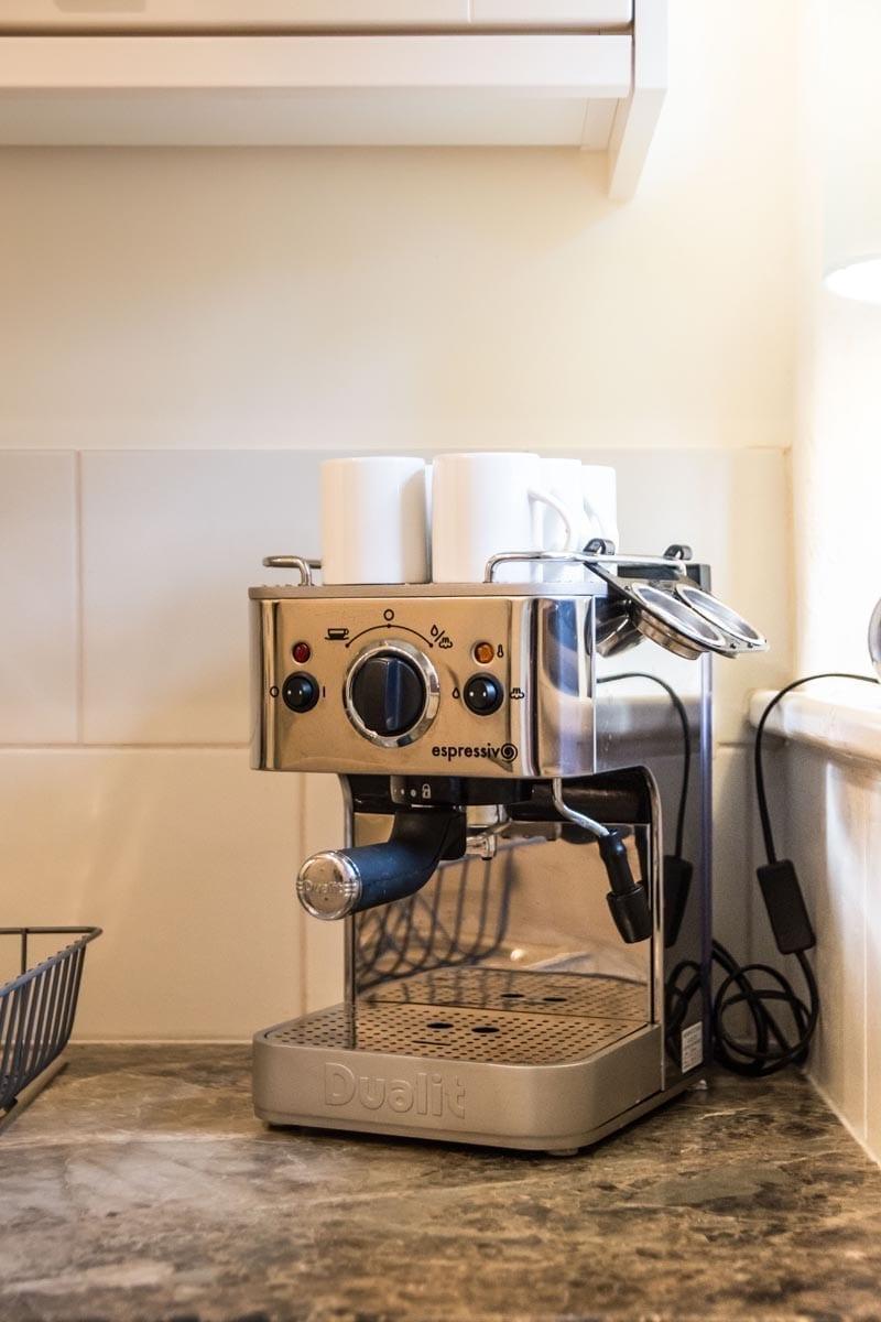 Penjerrick Cottage Coffee Machine