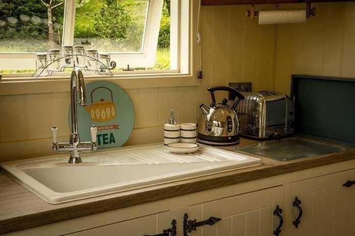 Shepherds Hut Kitchen Sink