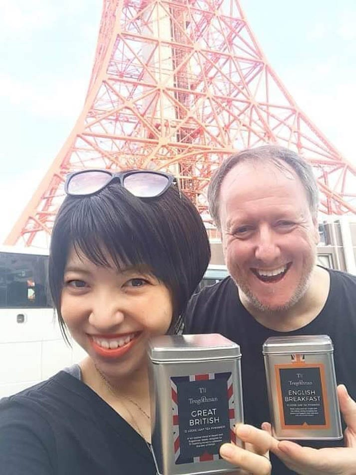 Andrew and Daijo are in Ginza, Japan to spread the word about Tregothnan tea across the country