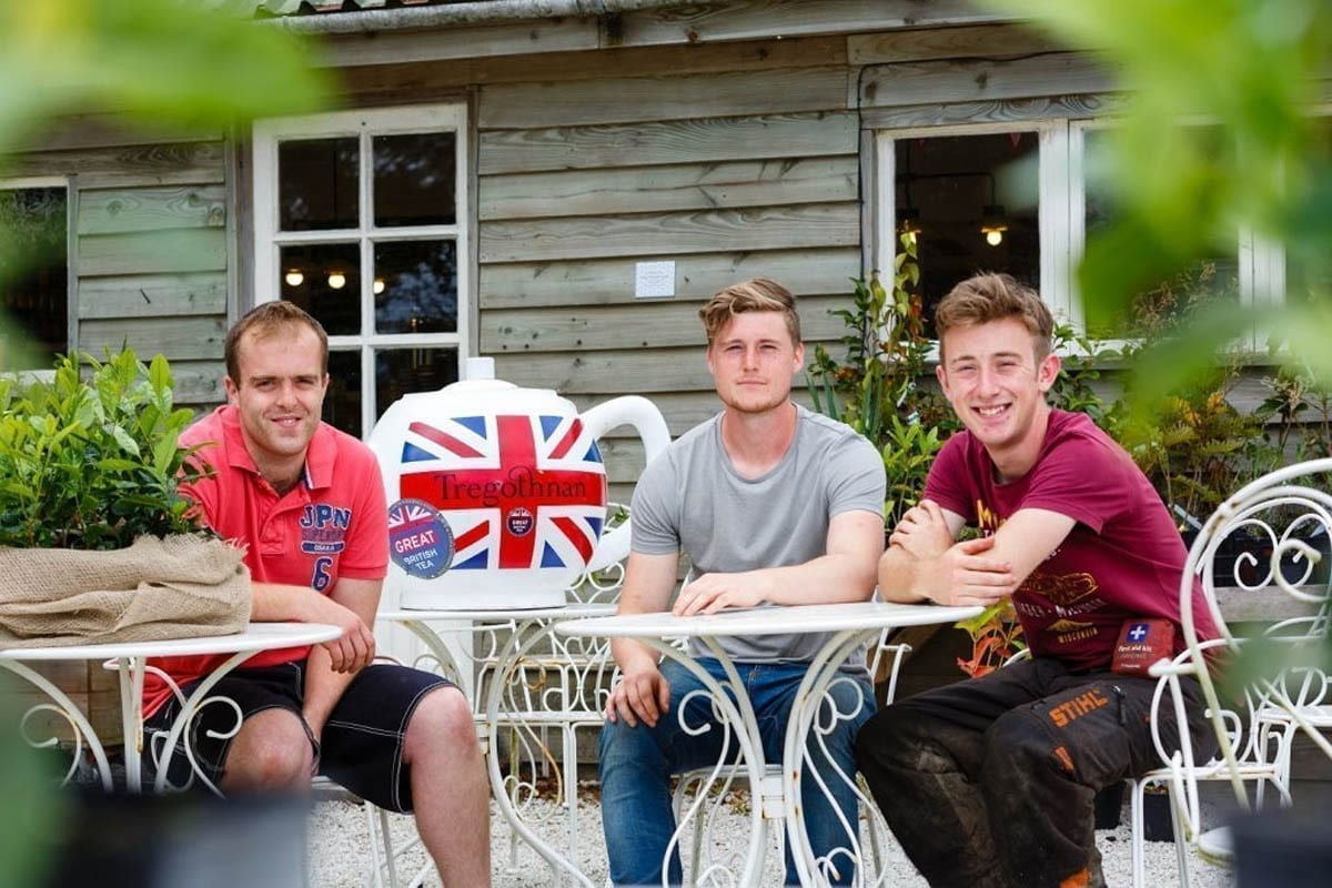 Tregothnsns first 3 Apprentices for Joinery, Woods and Gardens