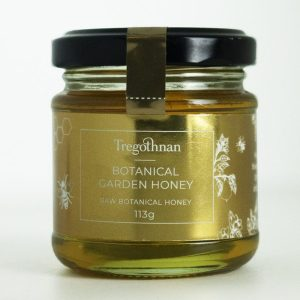 honey from the botanical garden on a white background