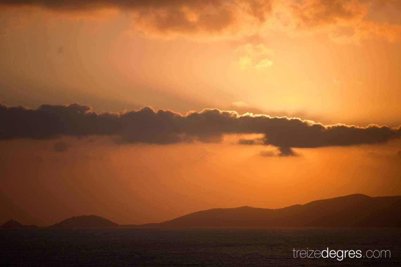 coucher de soleil corse