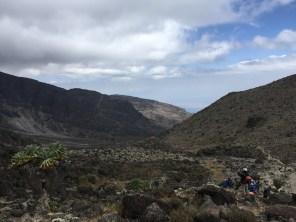 Looking towards Baranco Wall and camp