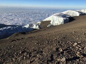 Glaciers towards the summit