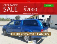 Canopy Clearance - Canopies for your ute or 4x4 Vehicle