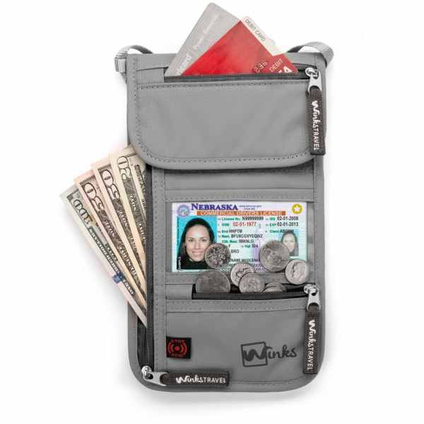 Winks Travel Neck Wallet Convenience And