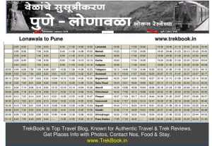 lonawala pune local timetable