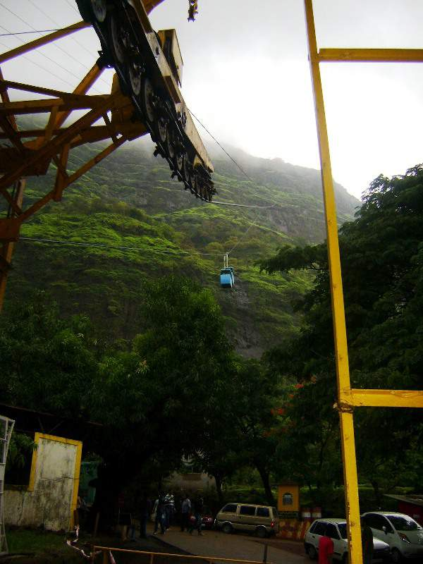 raigad ropeway view from bottom