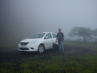 On the way to Thoseghar from Satara .. flying in the mist ..