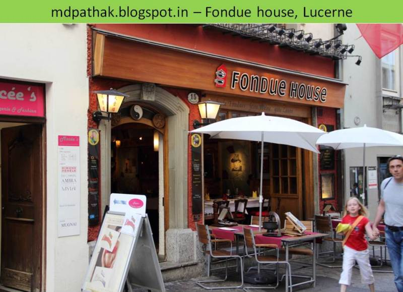 Fondue house lucerne market