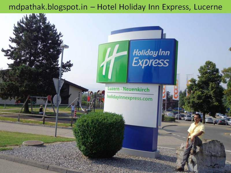 Hotel holiday inn express Lucern entrance
