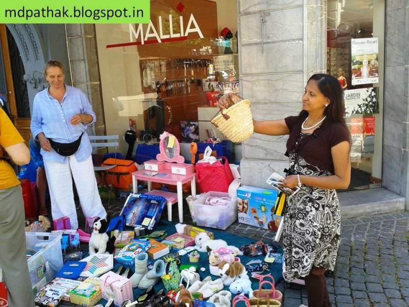 Switzerland road side bazar