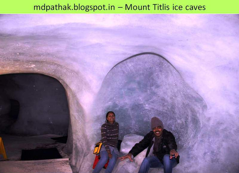 ice caves at mount titlis
