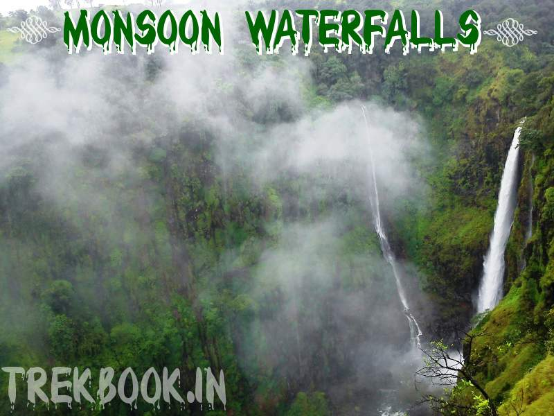 monsoon waterfalls in india