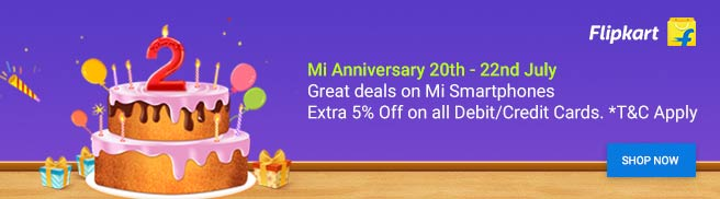 flipkart MI anniversary offer trekbook.in