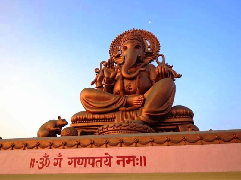 birla ganpati with moon