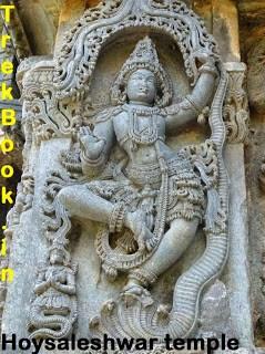 Krishnas kaliyamardan at Hoyasaleshawara temple