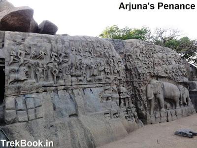 Mahabalipuram - Arjuna's penance and krishna mandap