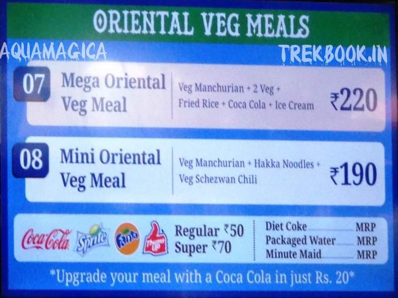 aquamagica oriental veg meals
