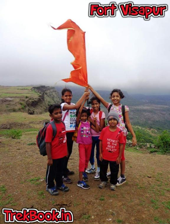 children enjoying trek