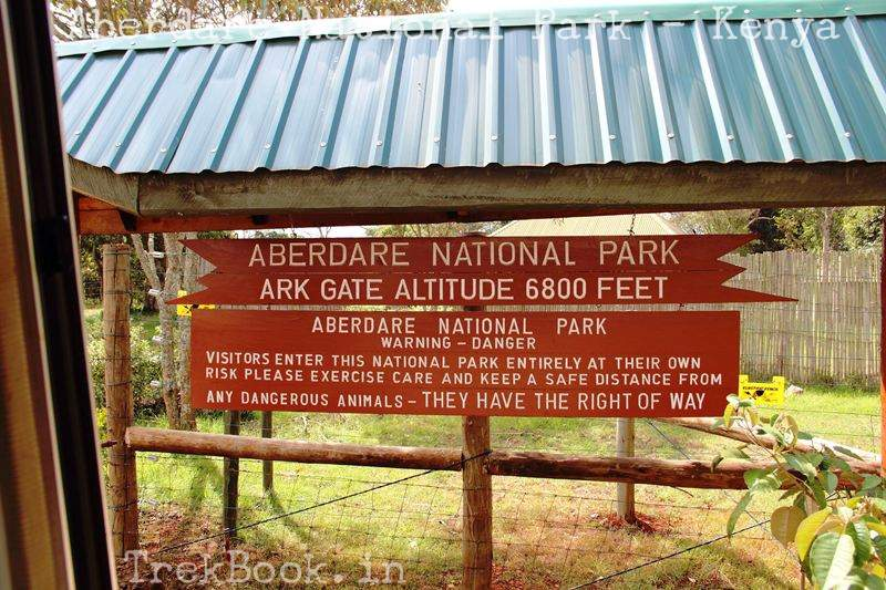 Aberdare National Park entry gate