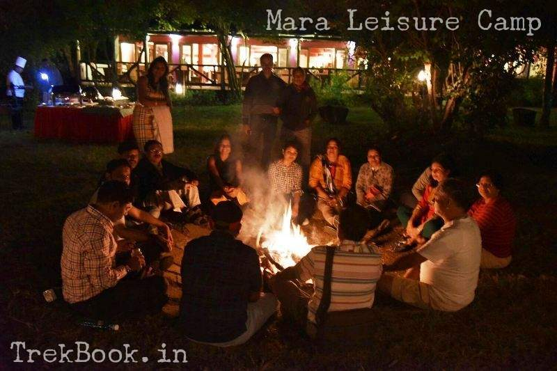 Mara Leisure Camp fire at night