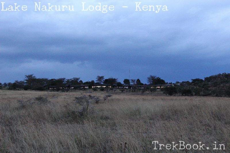 lake nakuru lodge at night beautiful view