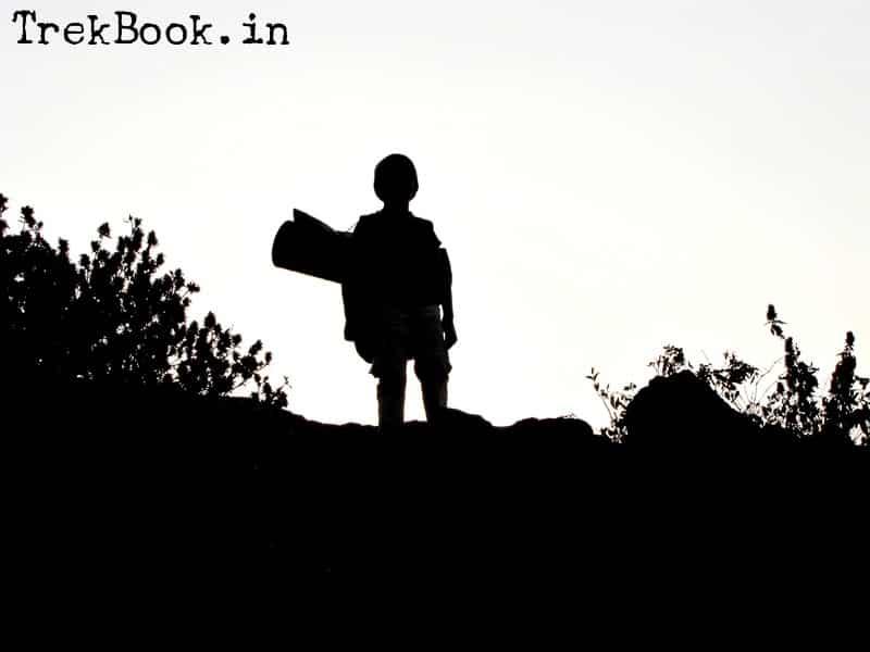 children trekking