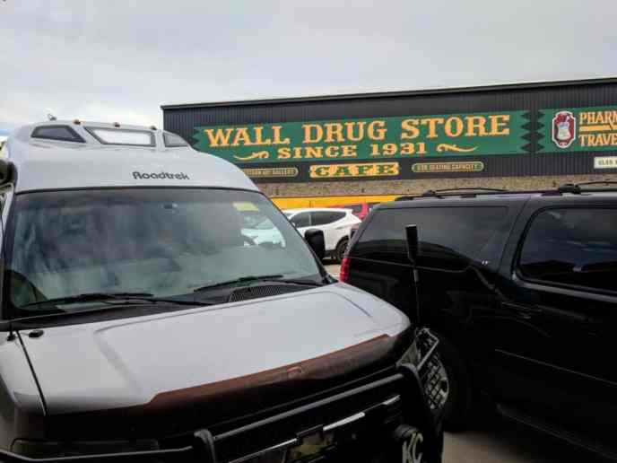 van at Wall Drug