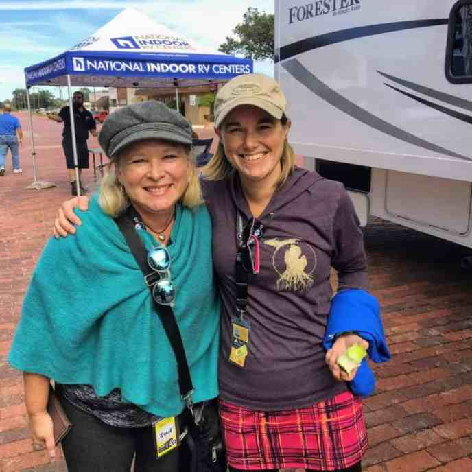 Julie from RV Love and Jessi from Trekers in Wellington, TX