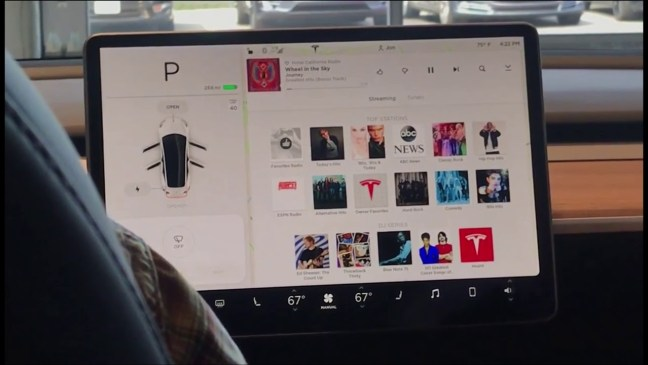 interface de música del Model 3