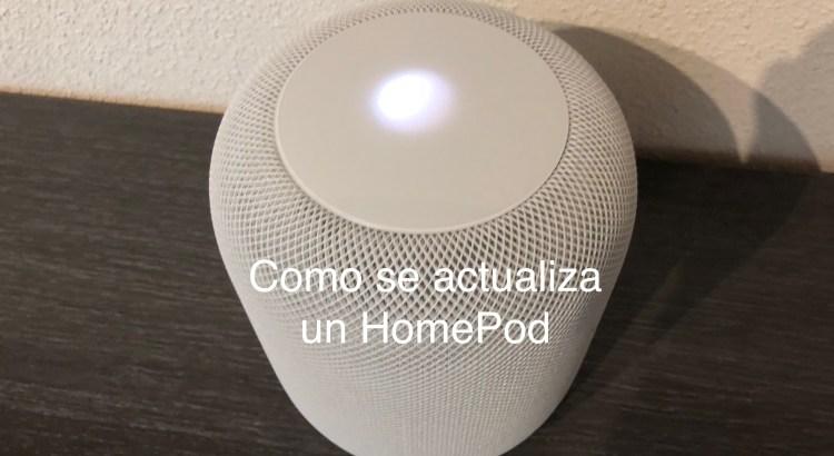 HomePod actualizandose