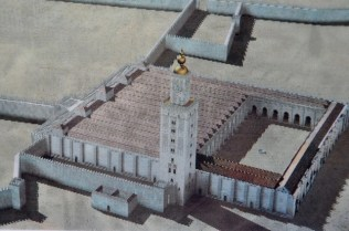 Postcard of what the mosque looked like.