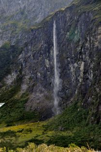 The waterfall, side view