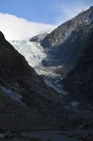 Franz Josef Glacier, sky clearing