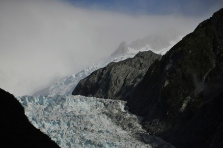 Franz Josef Glacier, turning the corner
