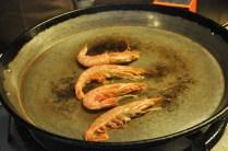 Quick saute of prawns