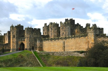 Approaching Alnwick Castle