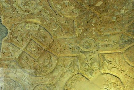 Detail of Detail of plaster from the 1600's