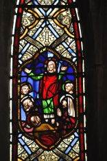 Detail of the stained glass window