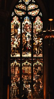 Stained glass window in St Giles Cathedral