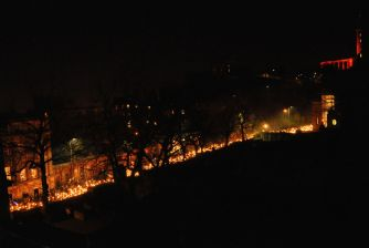 The parade continues, from our roof top